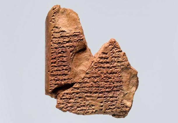 Cuneiform tablet: fragment of a liver omen.