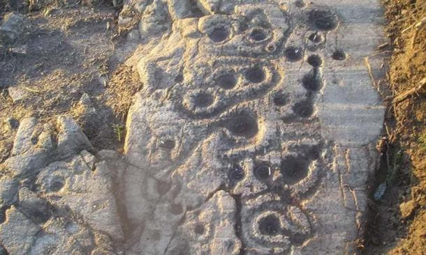 Cupmarks in Scotland, very similar to Judaculla Rock (George Currie)