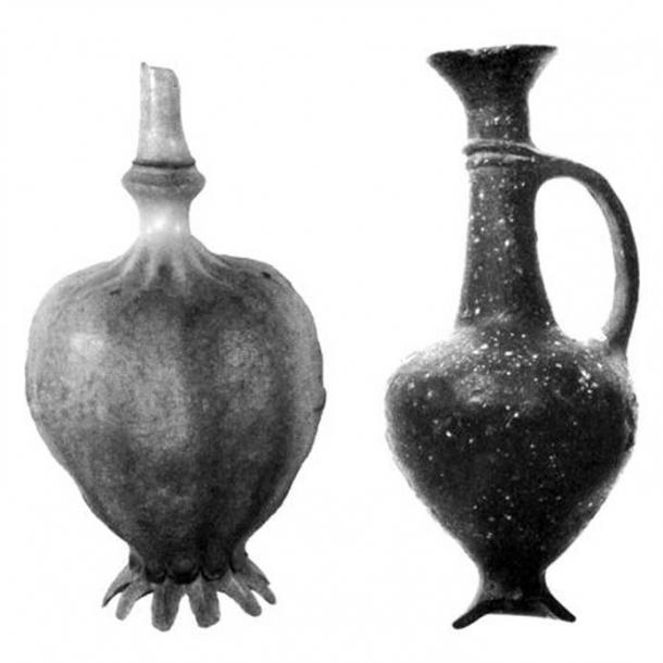 Cypriot jugs were crafted in the shape of the poppy seed pod 3000 years ago. (Robert S. Merrillees)