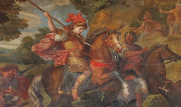 Cyrus the Great in battle, palace of Versailles, France
