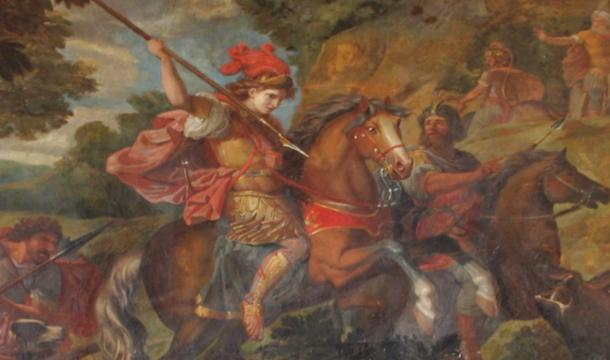 A painting of Cyrus the Great in battle from the Palace of Versailles.