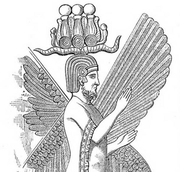 Illustration of relief of Cyrus the Great.