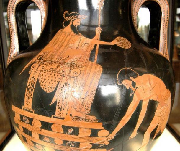 Cyrus puts Croesus on the pyre. (Bibi Saint-Pol / Public Domain)