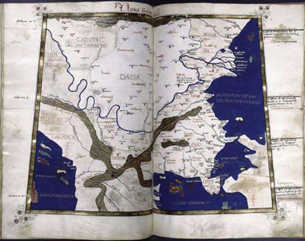 Dacia map cf. Ptolemy (2nd century AD)