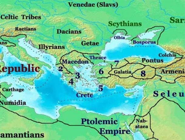 Dacian / Getae tribes north of the Danube river. (Talessman / CC BY-SA 3.0)