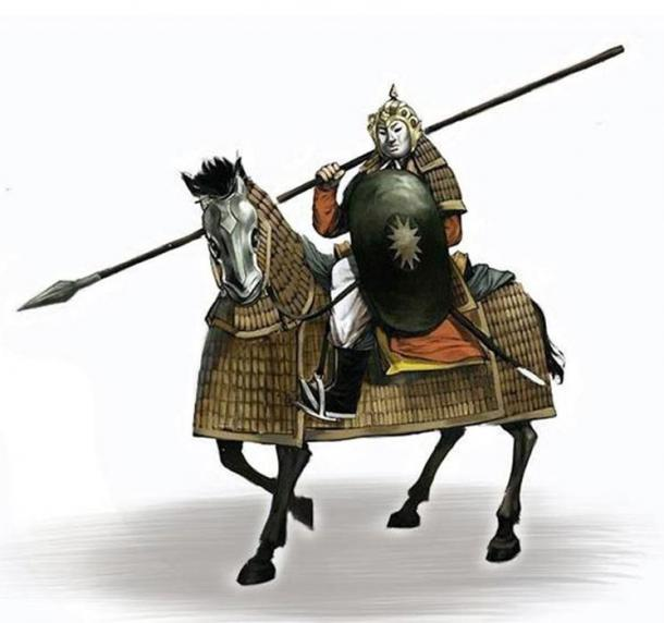 Dai Viet heavy cavalry of the Tran Dynasty (1225–1400 AD). Both horse and rider had protective armor.