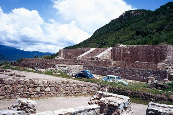 The archaeological site of Dainzú-Macuilxóchitl in the Oaxaca Valley in southern Mexico, once inhabited by the Zapotec civilization