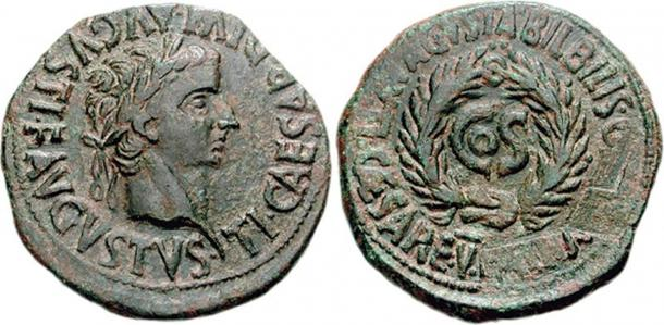 Coins subject to Damnatio Memoriae: Important historical type with the name of Sejanus removed [on right] in damnatio memoriae.
