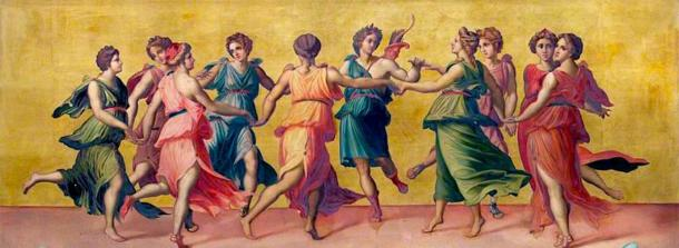 Dance of Apollo and the Nine Muses. (Shuishouyue / Public Domain)