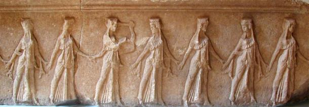 Dancer's Frieze from the Temenos, Samothrace (CC BY-SA 3.0)