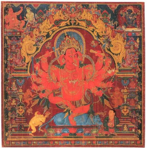 Dancing Ganpati, 15th century, Central Tibet.