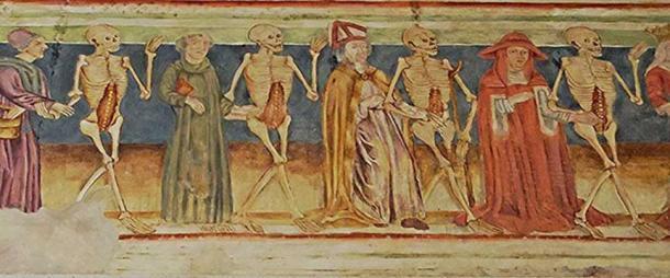 'Danse Macabre' – a 16th century fresco.