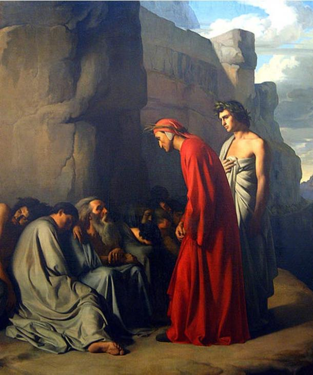 Dante gives his condolences to the blind (1835) Jean-Hippolyte Flandrin