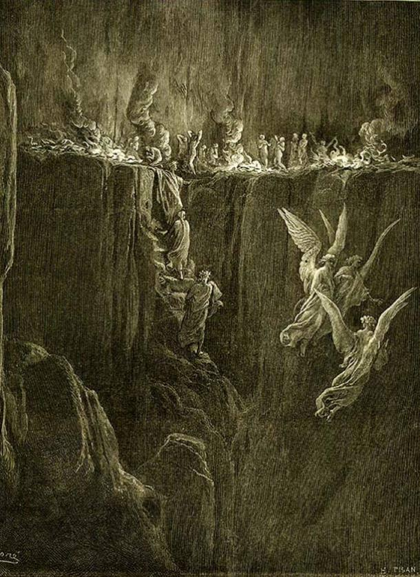 Illustration for Dante's Purgatorio by Gustave Doré