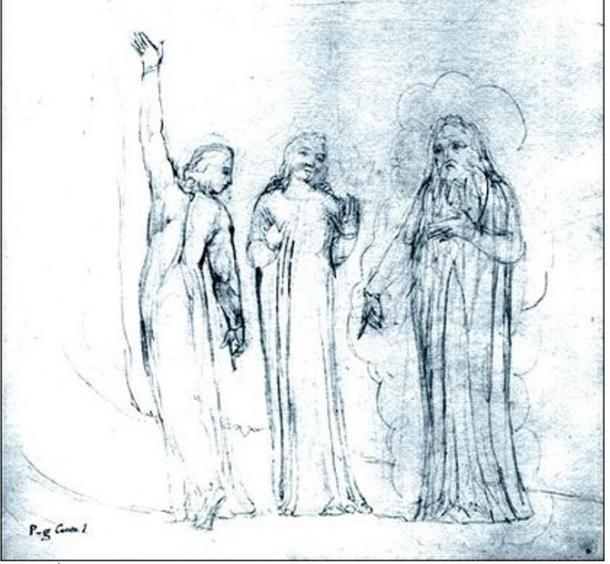 Dante, Virgil and Cato (1827) William Blake