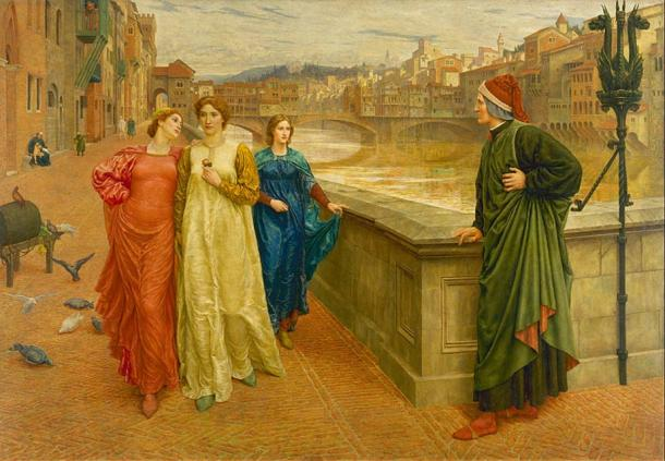 Dante and Beatrice (1882/1884), Henry Holiday