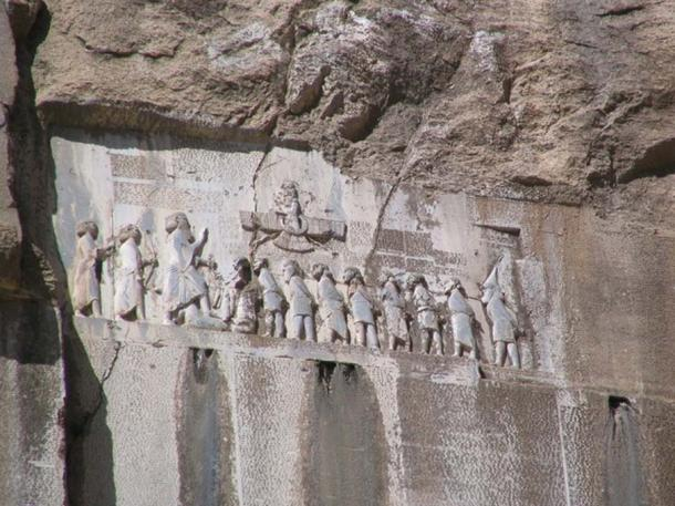 "Darius I the Great's inscription (the Behistun inscription) The earliest epigraphically attested reference to the word arya occurs in the 6th-century BC Behistun inscription. The arya of the inscription does not signify anything but ""Iranian"". (CC BY-SA 3.0)"