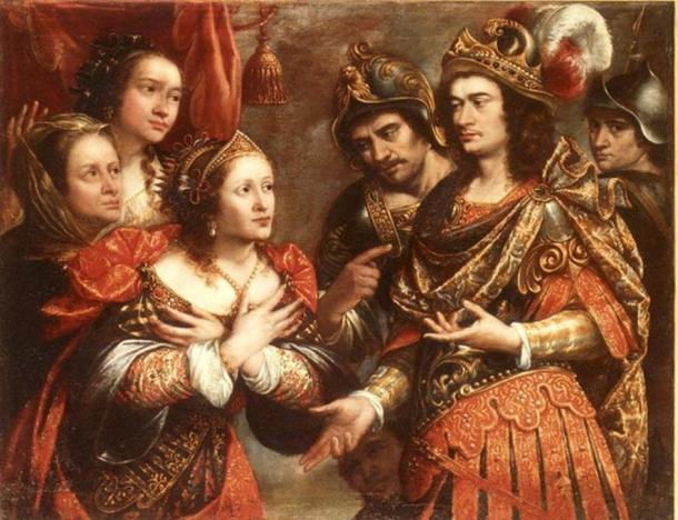The family of Darius in front of Alexander, by Justus Sustermans and preserved in the Biblioteca Museu Víctor Balaguer.