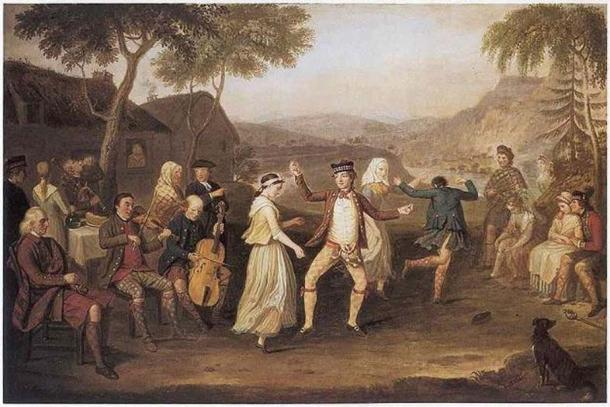 David Allan (Scottish painter 1744-1796), 'The Highland Wedding', 1780. Source: Public Domain