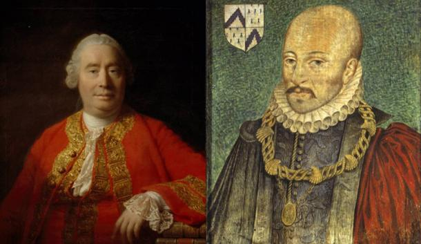 David Hume (Public Domain) and Michel de Montaigne (Public Domain) were both influenced by the work of Sextus Empiricus.