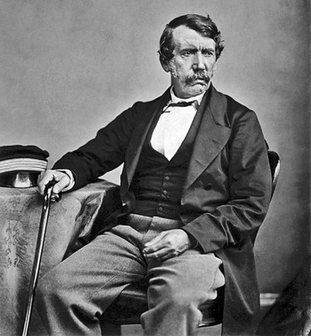 David Livingstone,1864, pioneer Christian missionary with the London Missionary Society, an explorer in Africa, and one of the most popular British heroes of the late 19th-century Victorian era. (Archaeodontosaurus / Public Domain)