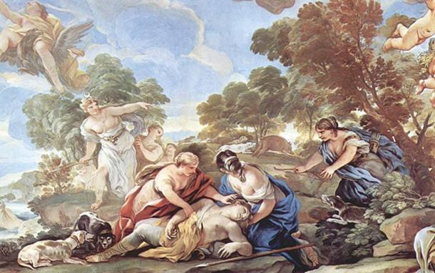 Death of Adonis, by Luca Giordano