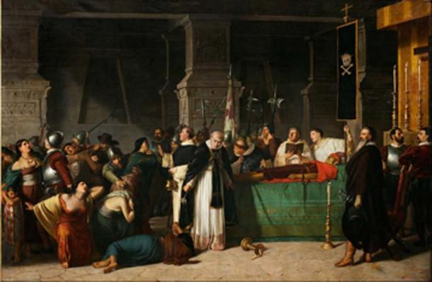 Death of Atahualpa. (DcoetzeeBot / Public Domain)