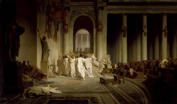 The Death of Caesar, by Jean-Léon Gérôme (1867).