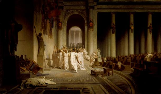 'The Death of Caesar' by Jean-Léon Gérôme.