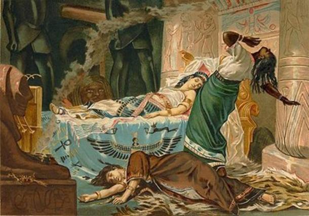 'The Death of Cleopatra' (1881) by Juan Luna.