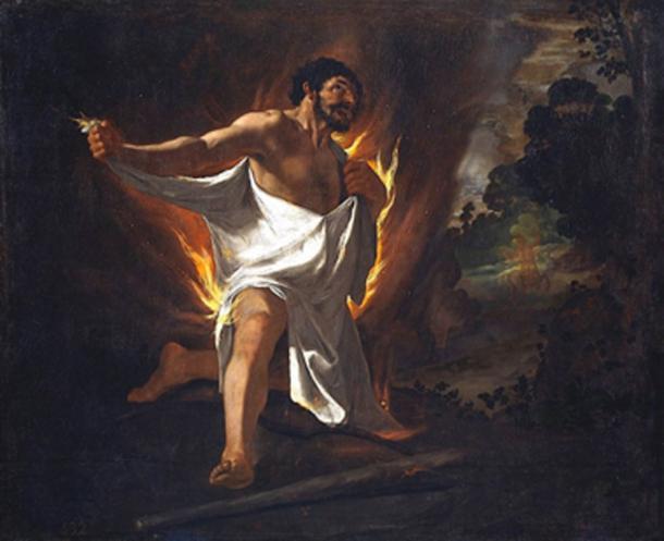 Death of Hercules, painting by Francisco de Zurbarán. (Alonso de Mendoza / Public Domain)