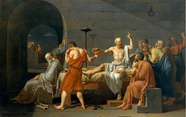 The Death of Socrates (1787) by Jacques-Louis David. (Public Domain) In Plato's 'Crito,' Crito advised Socrates to pay his way out of prison.