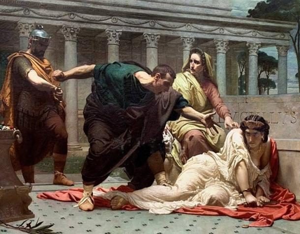 'The Death of Valeria Messalina' by Victor Biennoury (1823–1893)