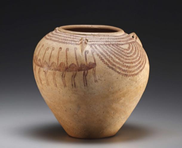 Decorated jar with Nilotic scenes (D-ware). Baked clay. Predynastic Period, Naqada II, 3700-3300 BC. (Author Supplied /Nicola dell'Aquila and Federico © Taverni/Museo Egizio di Torino)