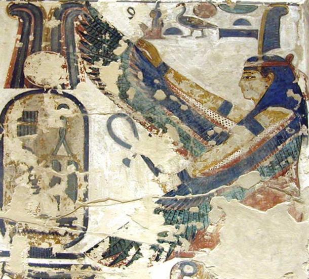 Decoration inside Seti I's tomb.