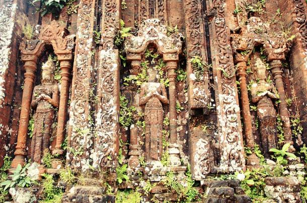 Decoration on ruins of My Son, Quang Nam, Viet Nam