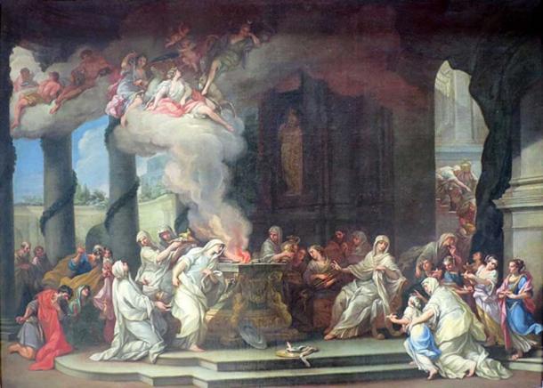 Dedication of a New Vestal Virgin. (Travail / Public Domain)