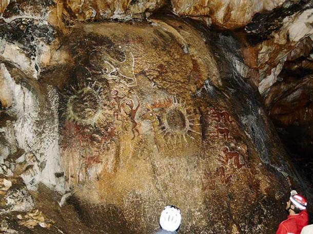 Deep cave art in Crimea.