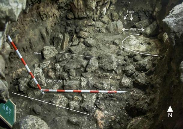 "The Dehesilla cave site known as ""Locus 2"" south of Cadiz where the human and animal remains, and other ritual objects were discovered. (PLOS ONE)"