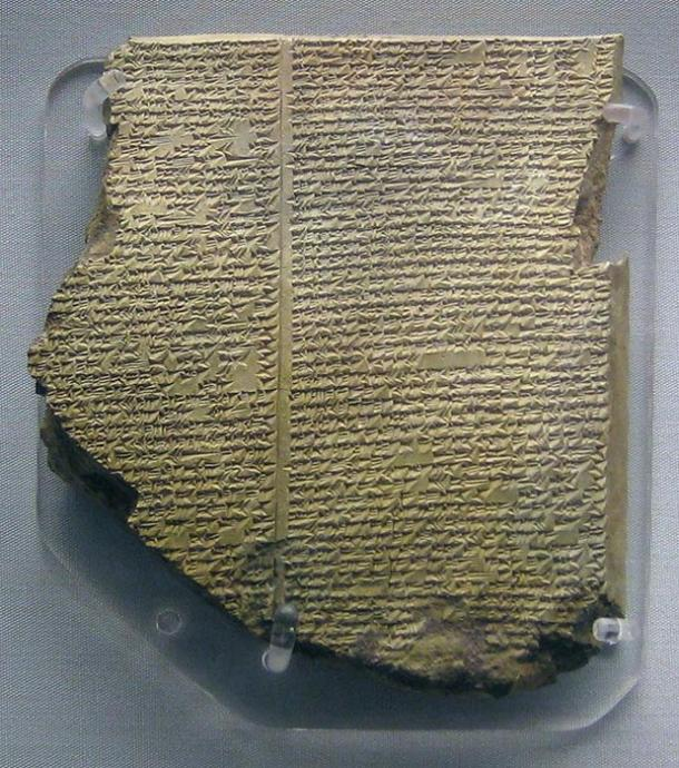 The Deluge tablet of the Gilgamesh epic in Akkadian.