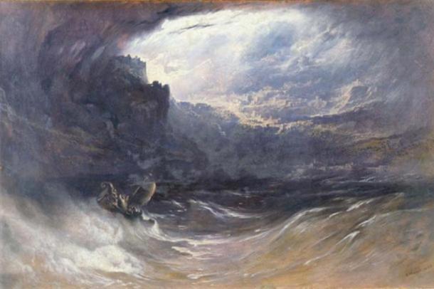 The Deluge, by John Martin, 1834. Yale University ( Public Domain )