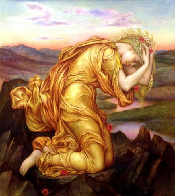 'Demeter Mourning for Persephone' (circa 1906) by Evelyn De Morgan. (Public Domain)