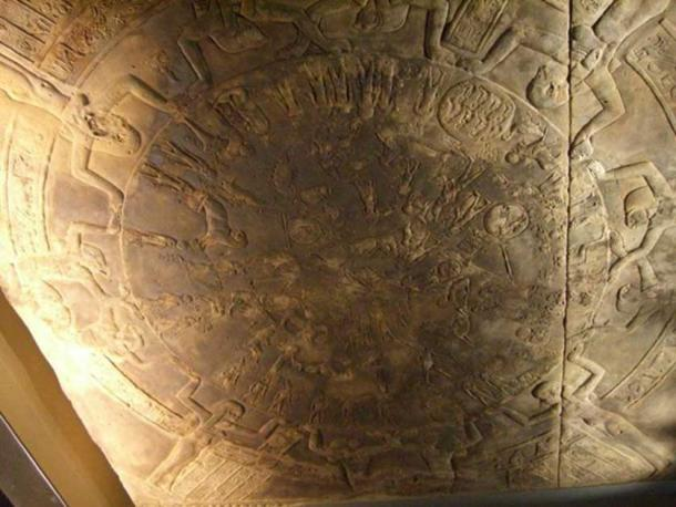 The Dendera zodiac as displayed at the Louvre