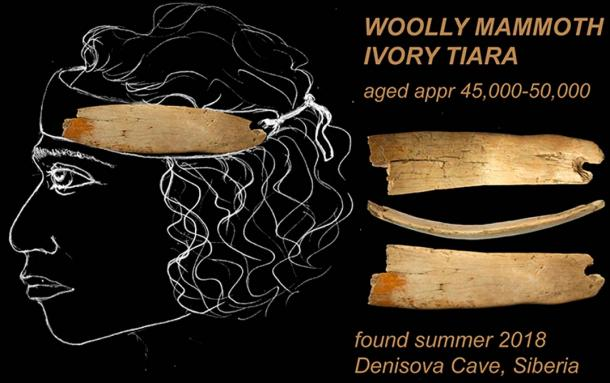 Another sensational discovery from the Denisova Cave that was made this summer season, the woolly mammoth ivory tiara.