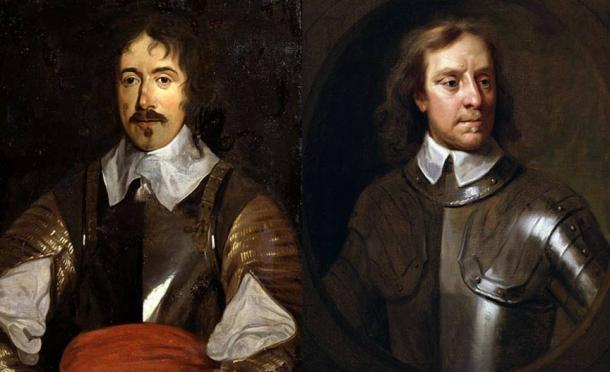 Left-Right: Denzil Holles (Public Domain) and Oliver Cromwell (Public Domain).
