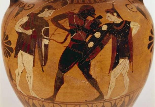 The Departure of Memnon for Troy. Greek, circa 550-525 BC.