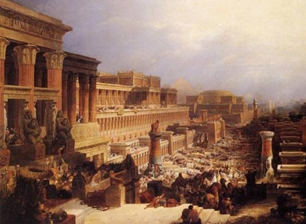 "The Book of Exodus: ""Departure of the Israelites"", by David Roberts, 1829."