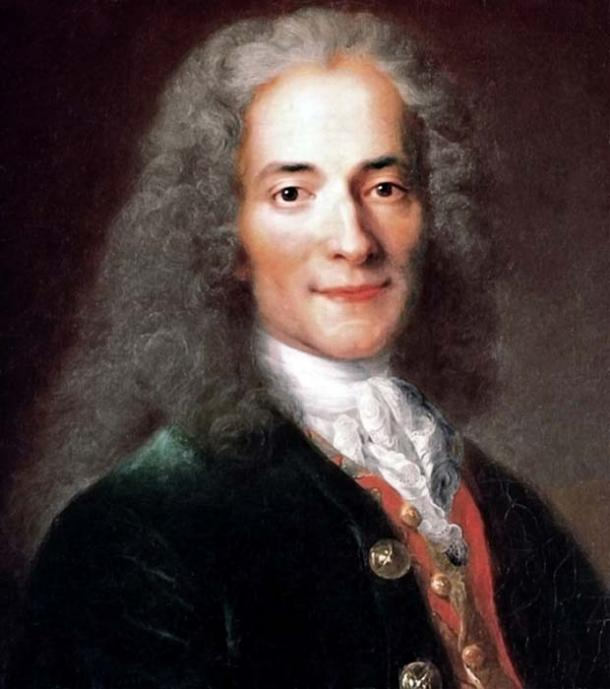 Depicted person: François-Marie Arouet (1694–1778), known as Voltaire, French Enlightenment writer and philosopher.