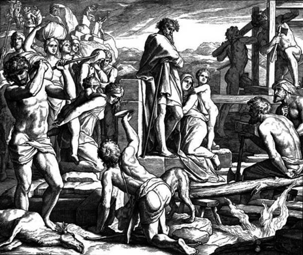 Depiction of Cain establishing the city of Enoch. (Ldorfman / Public Domain)