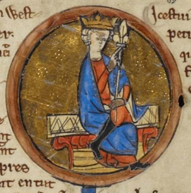 Depiction of Ecgberht from the 'Genealogical Chronicle of the English Kings', a late 13th-century manuscript in the British Library. (Public Domain)
